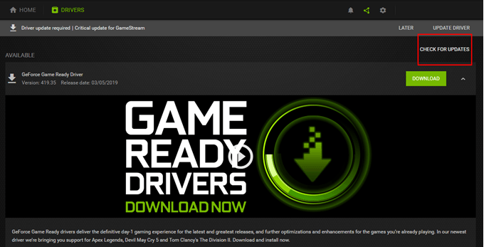 Update The Graphics Driver Programs